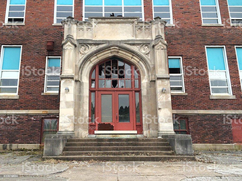 20th century grade school building stock photo