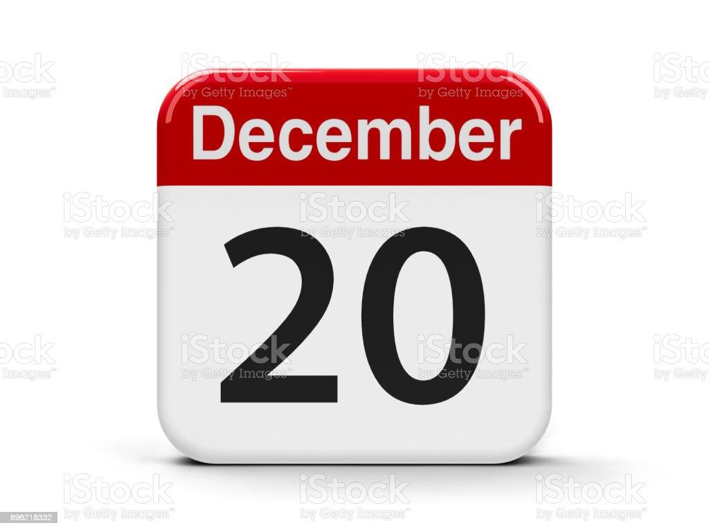 20th December stock photo