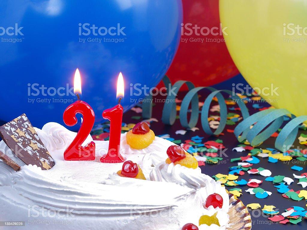 21st. Anniversary stock photo