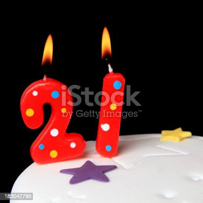 21st Birthday Candles Stock Photo More Pictures Of Anniversary