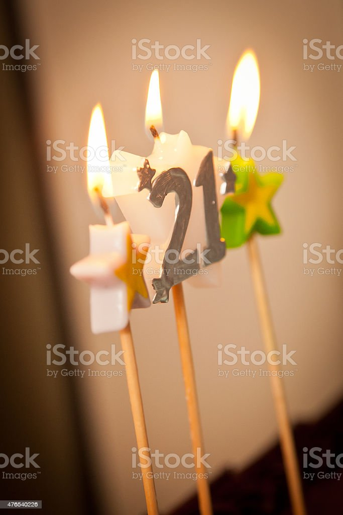 21st Birthday Candles Stock Photo More Pictures Of 20 24 Years
