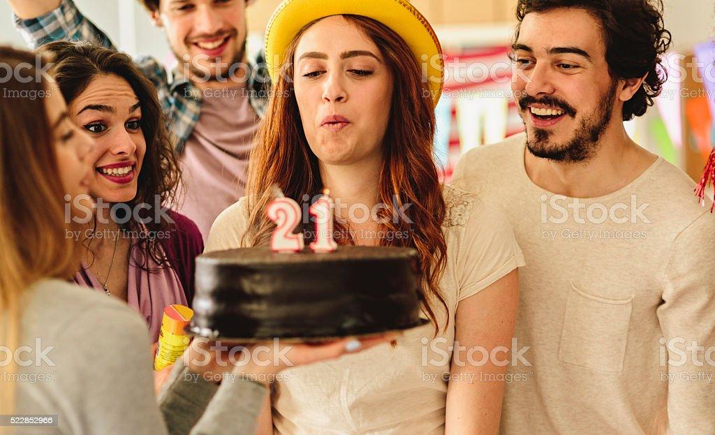 21st birthday Party stock photo