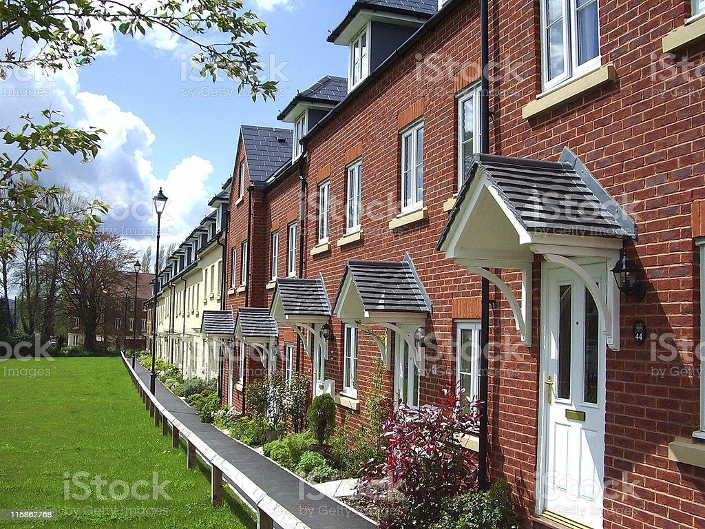 21st Century Terrace Homes royalty-free stock photo