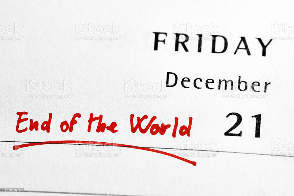 21st December 2012 - End of the World royalty-free stock photo