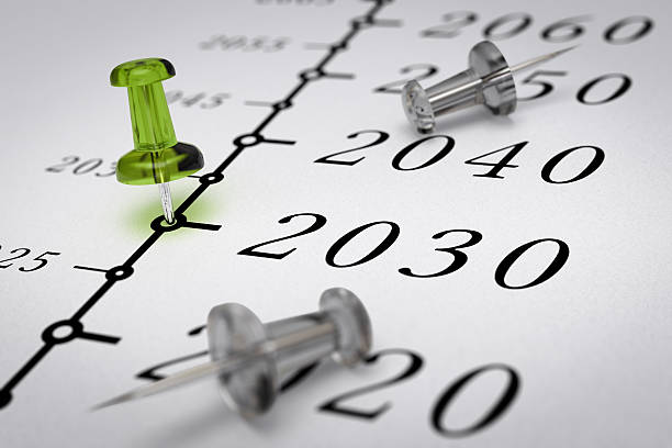 21 世紀のタイムラインは、2030 年 - 長い ストックフォトと画像