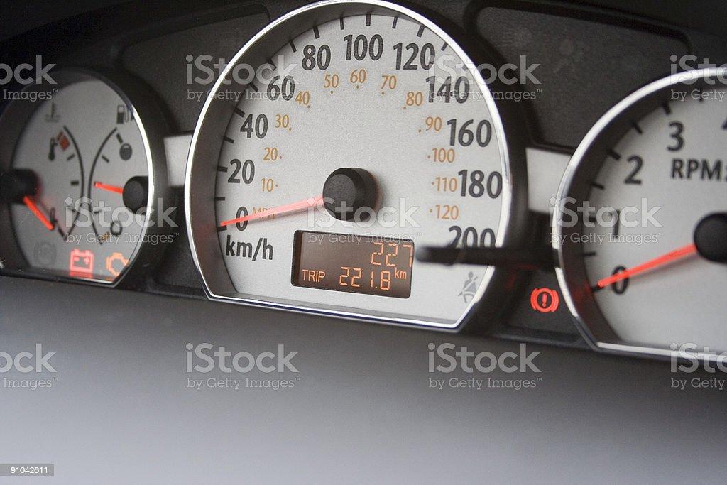 227 kilomètres sur nouvelle voiture Compteur kilométrique - Photo