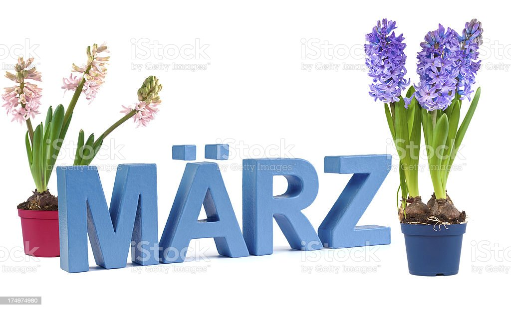 März - german word for March royalty-free stock photo