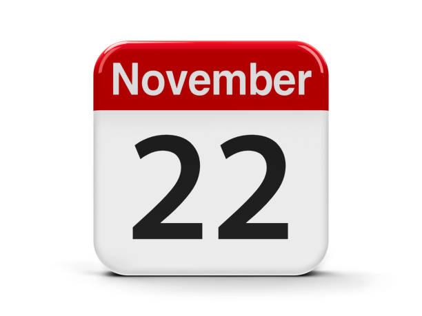 22nd November stock photo