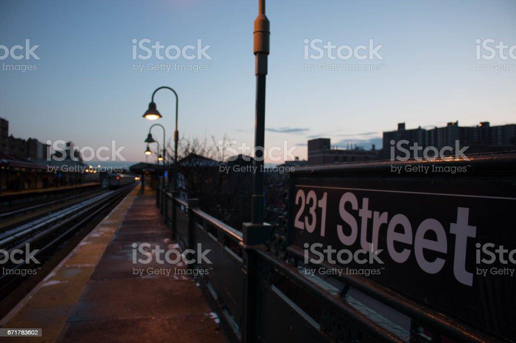 231st train station stock photo