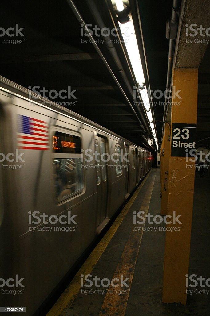 23rd Street Subway Station - Manhattan stock photo