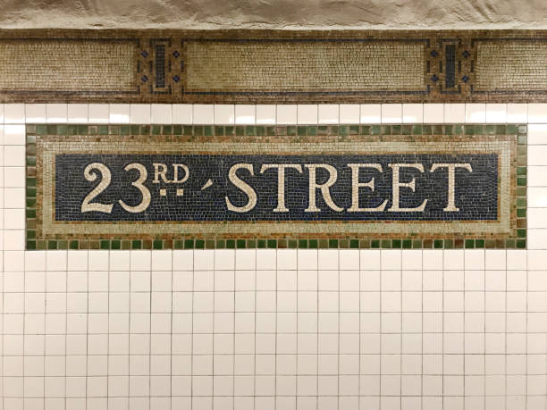 23th street subway station - number 23 stock photos and pictures
