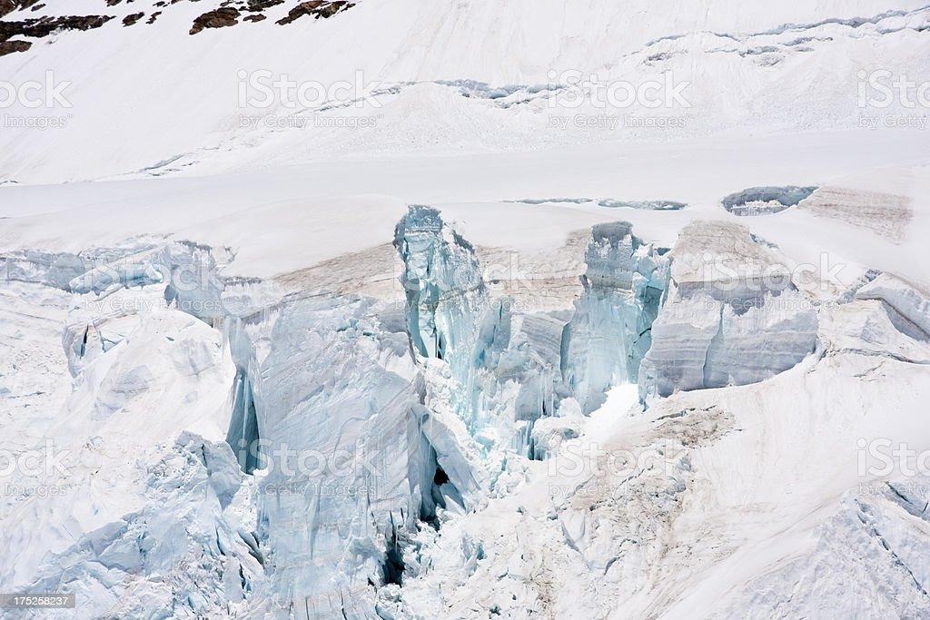 Mönch Glacier, Swiss Alps royalty-free stock photo