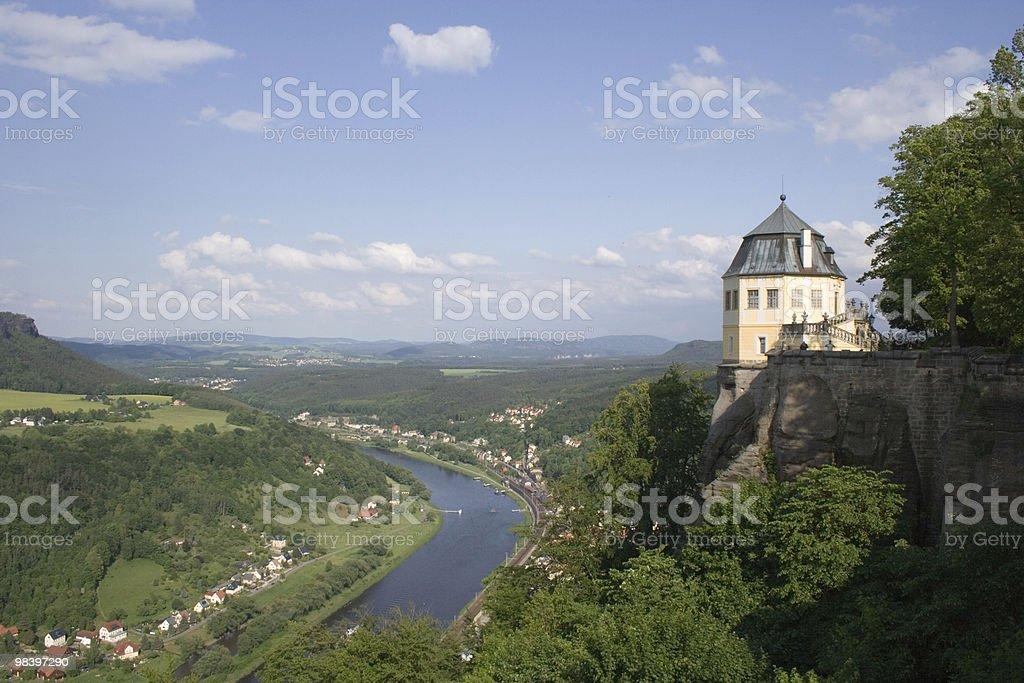 Königstein 요새 royalty-free 스톡 사진