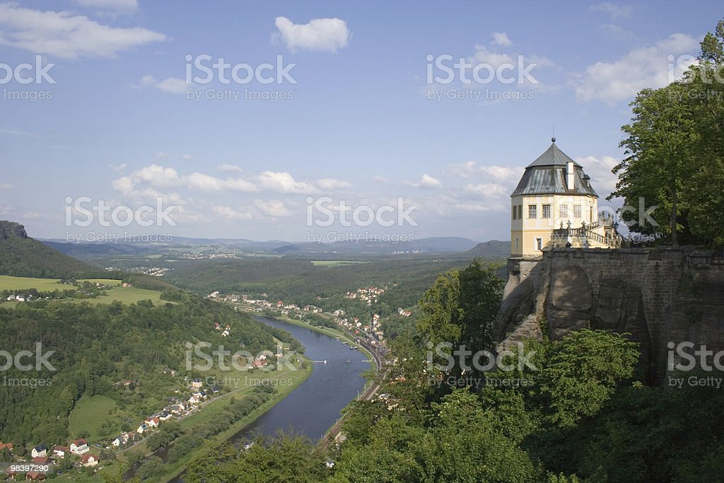 Königstein fortress royalty-free stock photo