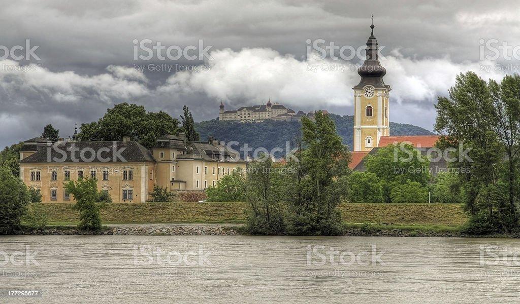 Göttweig Abbey at river Danube (Wachau, Lower Austria) HDR royalty-free stock photo