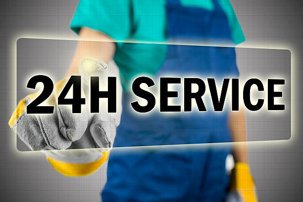 24h service stock photo
