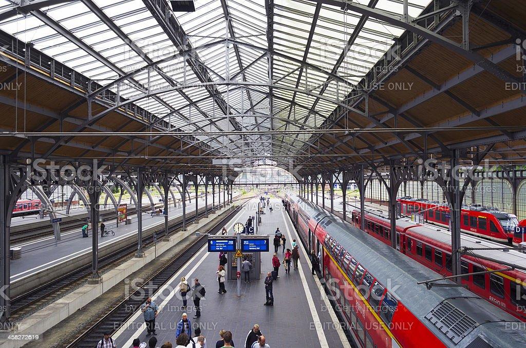 Lübeck station stock photo