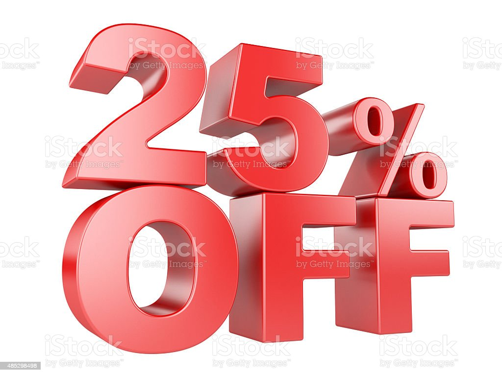 25percent off 3d icon stock photo