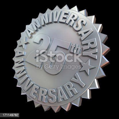 948081716 istock photo 25Th anniverary medal 171149762