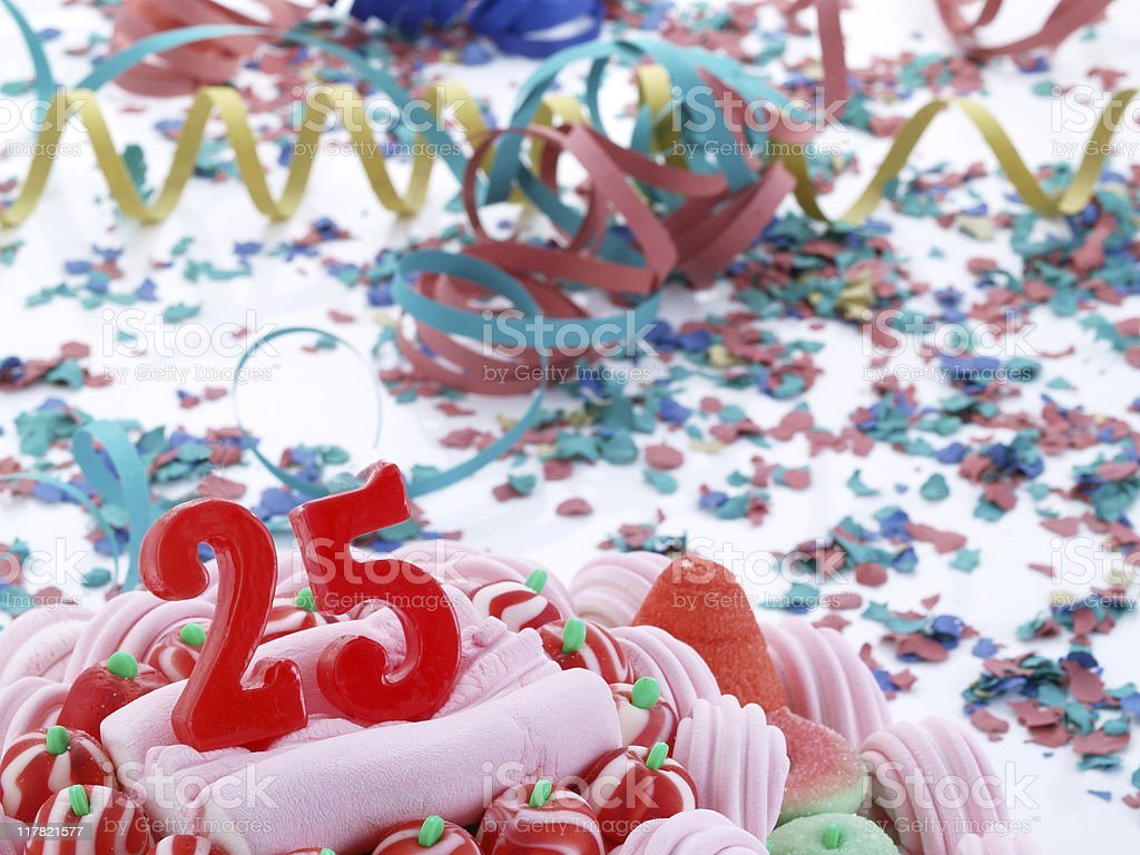 25th. Anniversary royalty-free stock photo