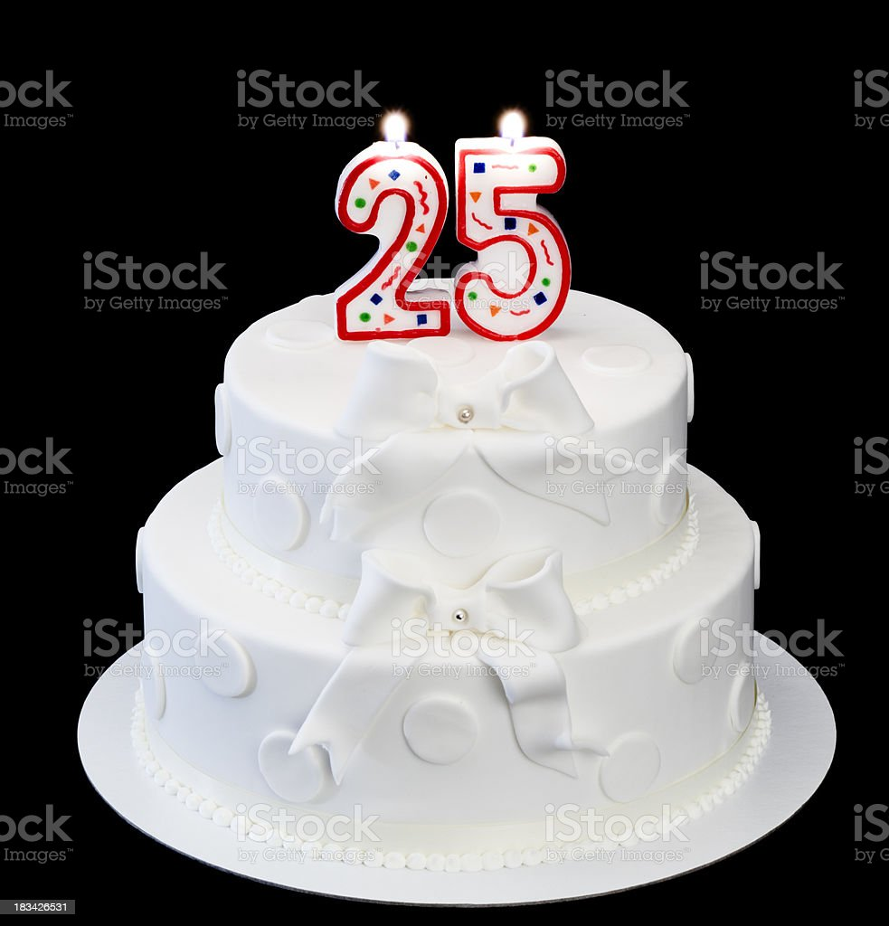 25th anniversary royalty-free stock photo