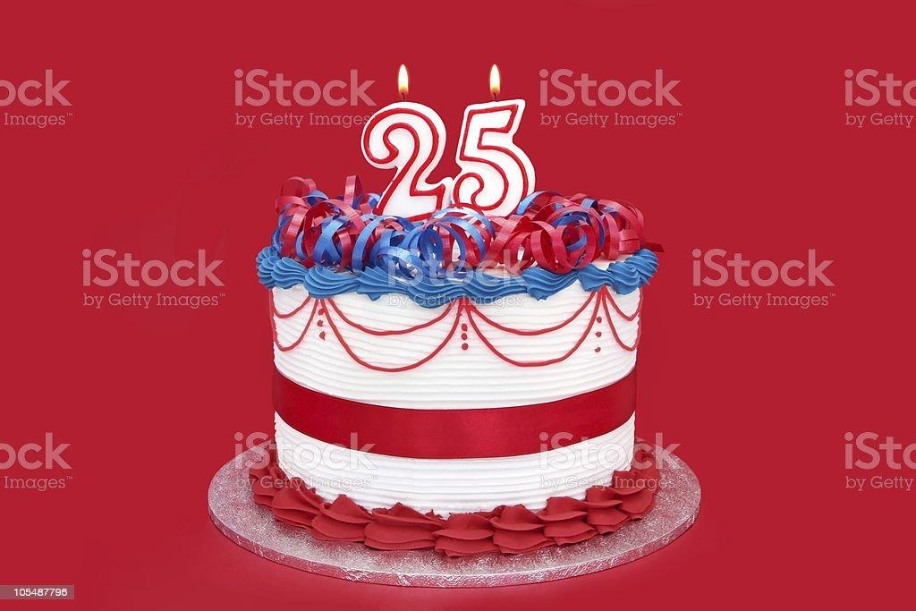 25th Cake royalty-free stock photo