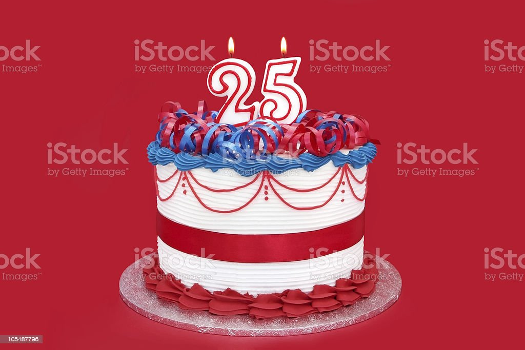 25th Cake stock photo