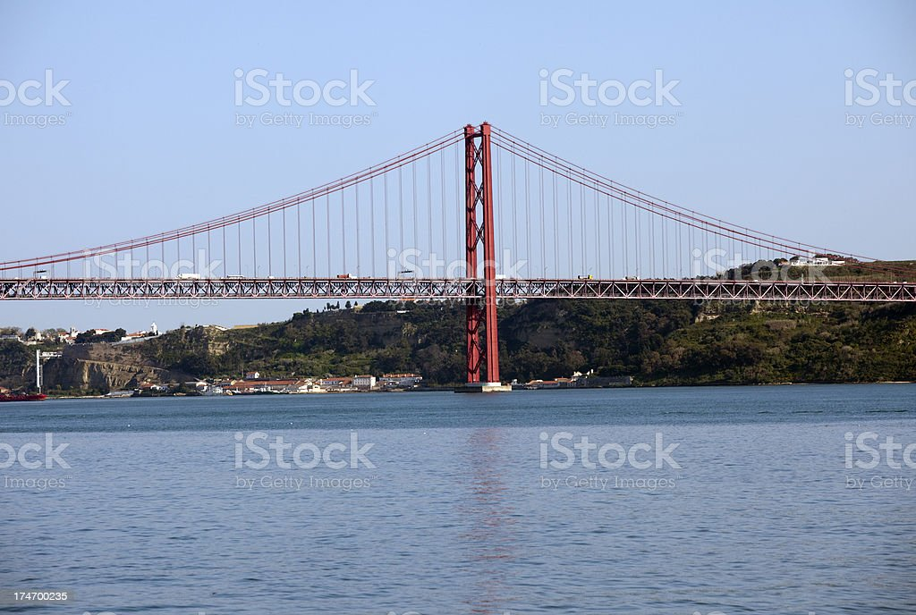 25th of April Suspension Bridge in Lisbon royalty-free stock photo