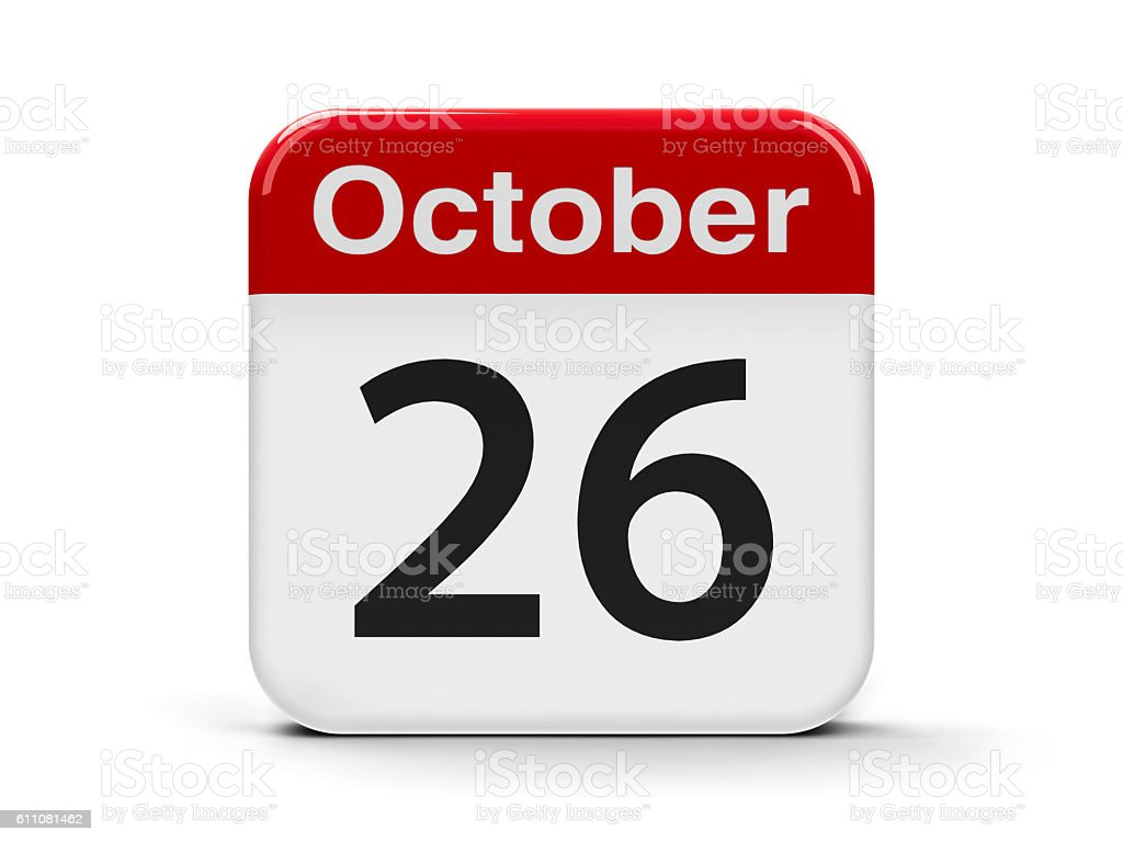 26th October stock photo