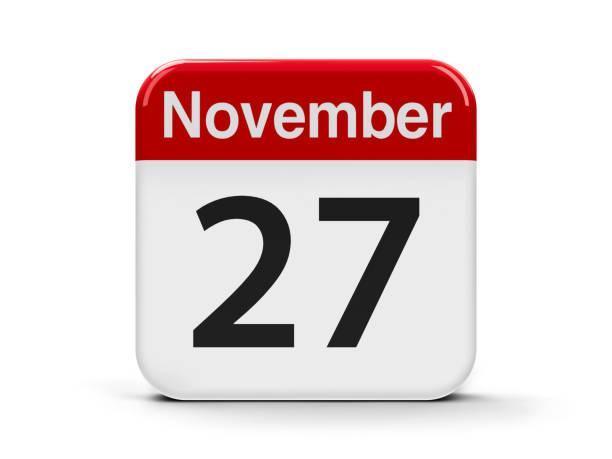 27. november - kalender icon stock-fotos und bilder