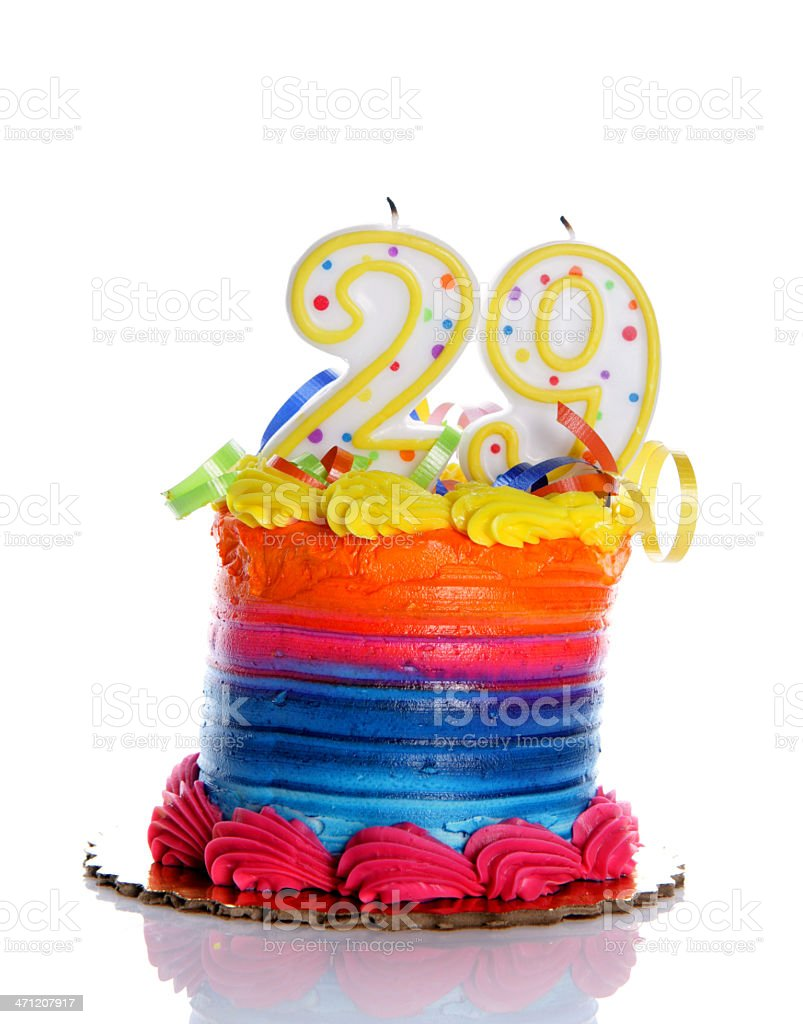 Outstanding 29Th Birthday Cake Stock Photo Download Image Now Istock Personalised Birthday Cards Paralily Jamesorg
