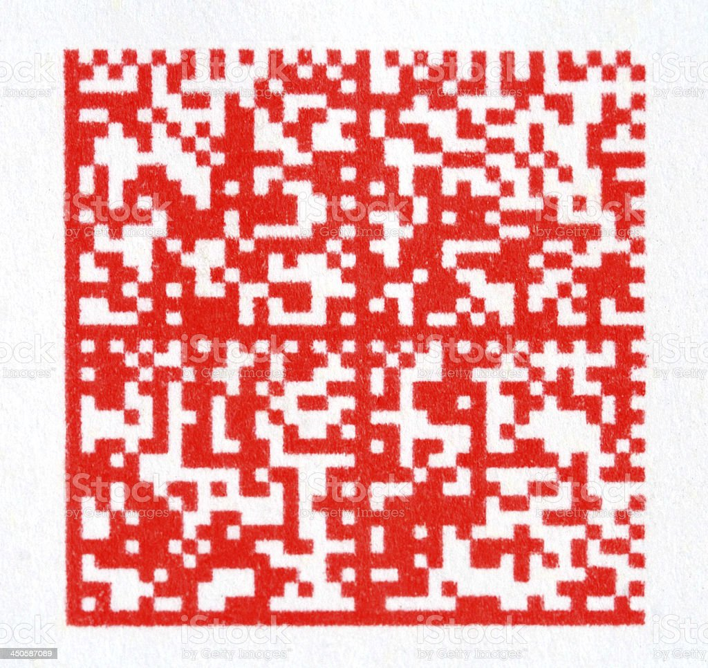 2d barcode stock photo