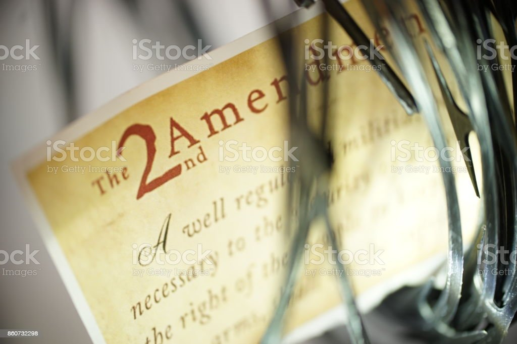 2nd amendment stock photo