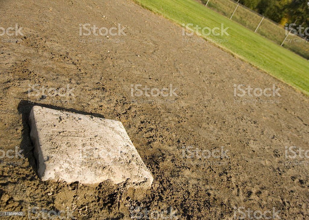2nd base in baseball with dirt around it royalty-free stock photo