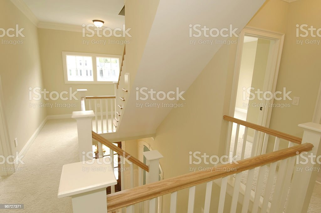 2nd floor in elegant home royalty-free stock photo