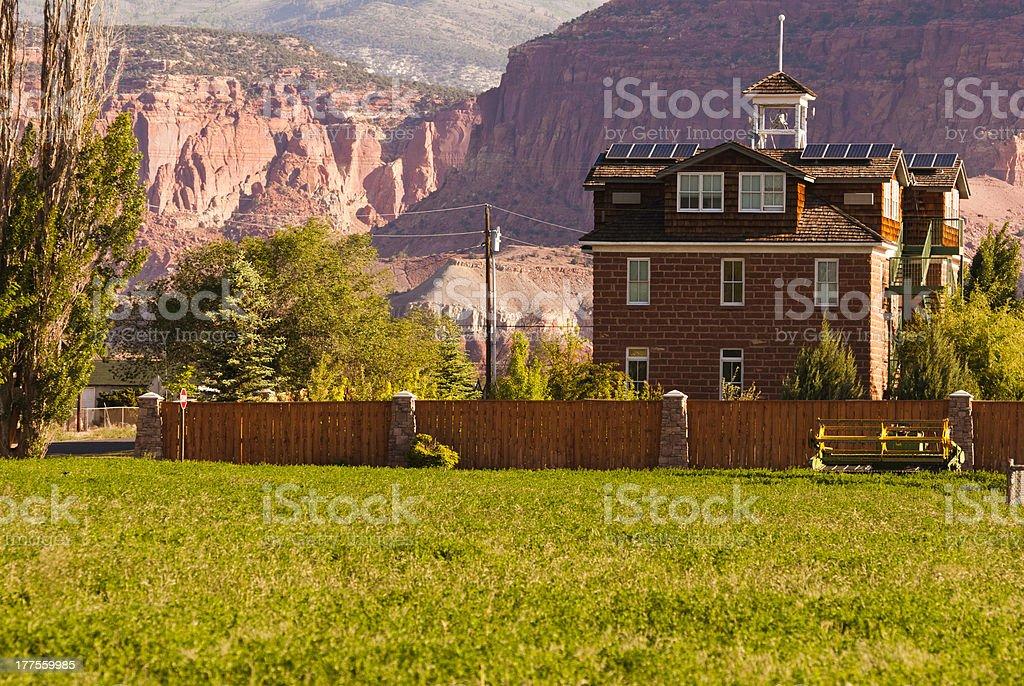 2nd School House in Torrey Utah stock photo