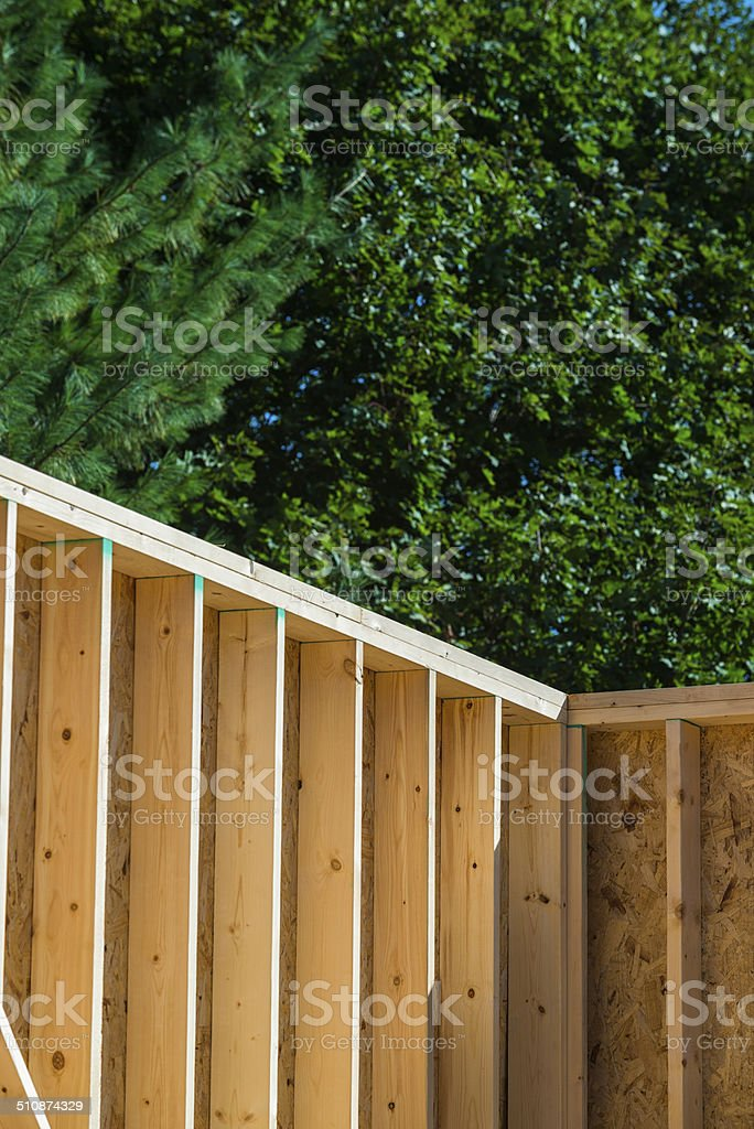 2x6 studs in New Home Construction stock photo
