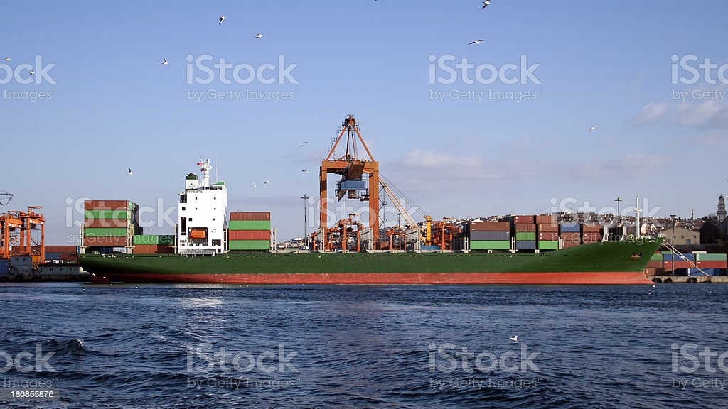 İndustrial ship royalty-free stock photo