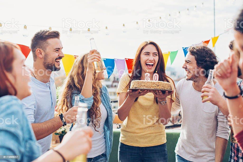 30s Birthday Celebration stock photo