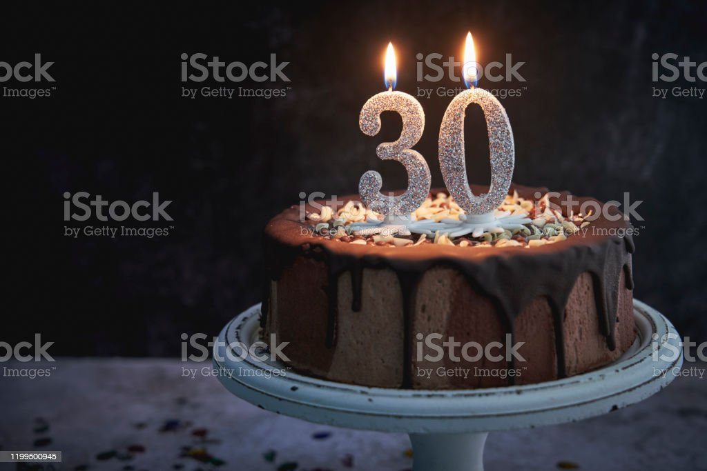Excellent 30Th Birthday Cake Stock Photo Download Image Now Istock Funny Birthday Cards Online Drosicarndamsfinfo