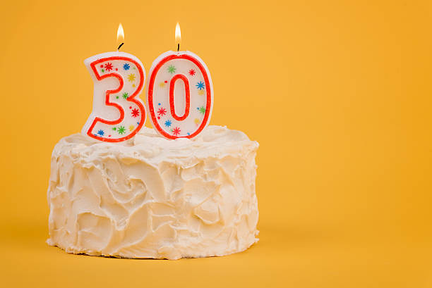 30th birthday cake - number 30 stock photos and pictures