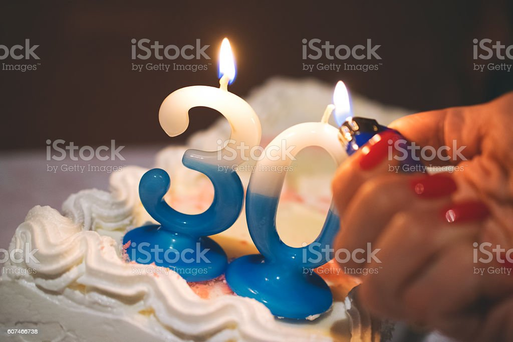 30th Birthday Cake Stock Photo More Pictures Of 30 34 Years