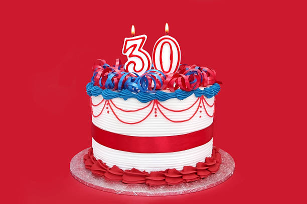 30 ciasto - 30 te urodziny zdjęcia i obrazy z banku zdjęć