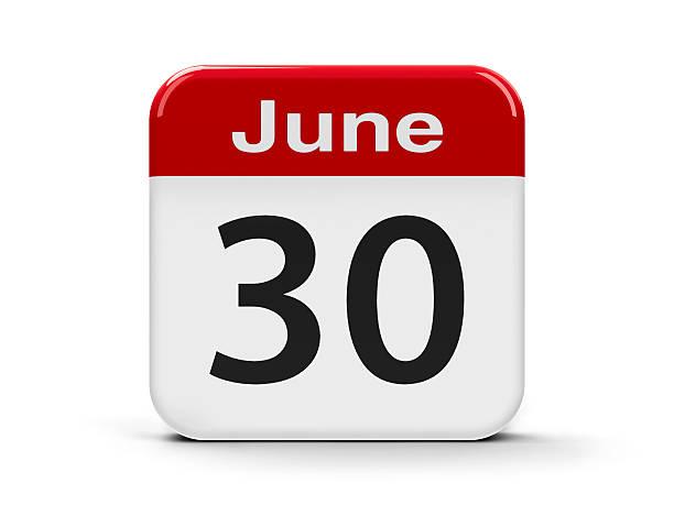 30th june - calendrier digital journée photos et images de collection