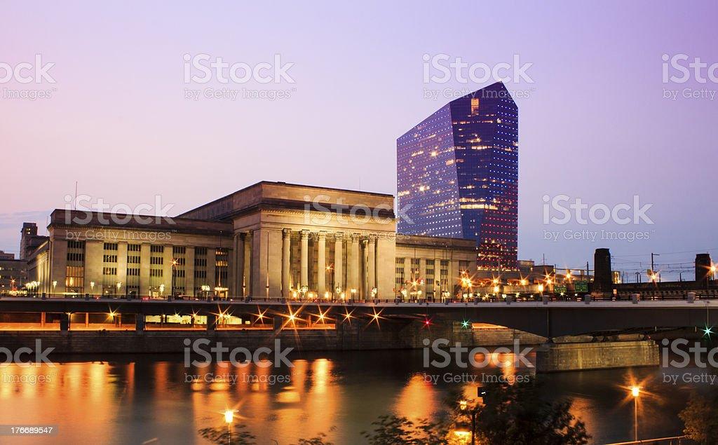 30th street station and circa center philadelphia stock photo