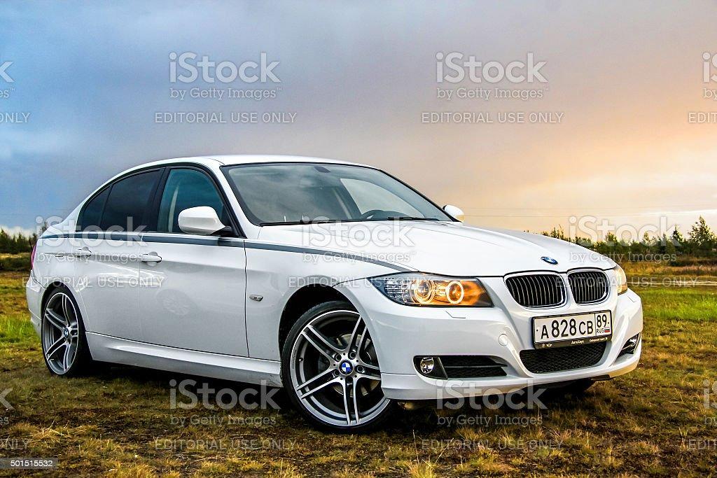 BMW E90 318i stock photo