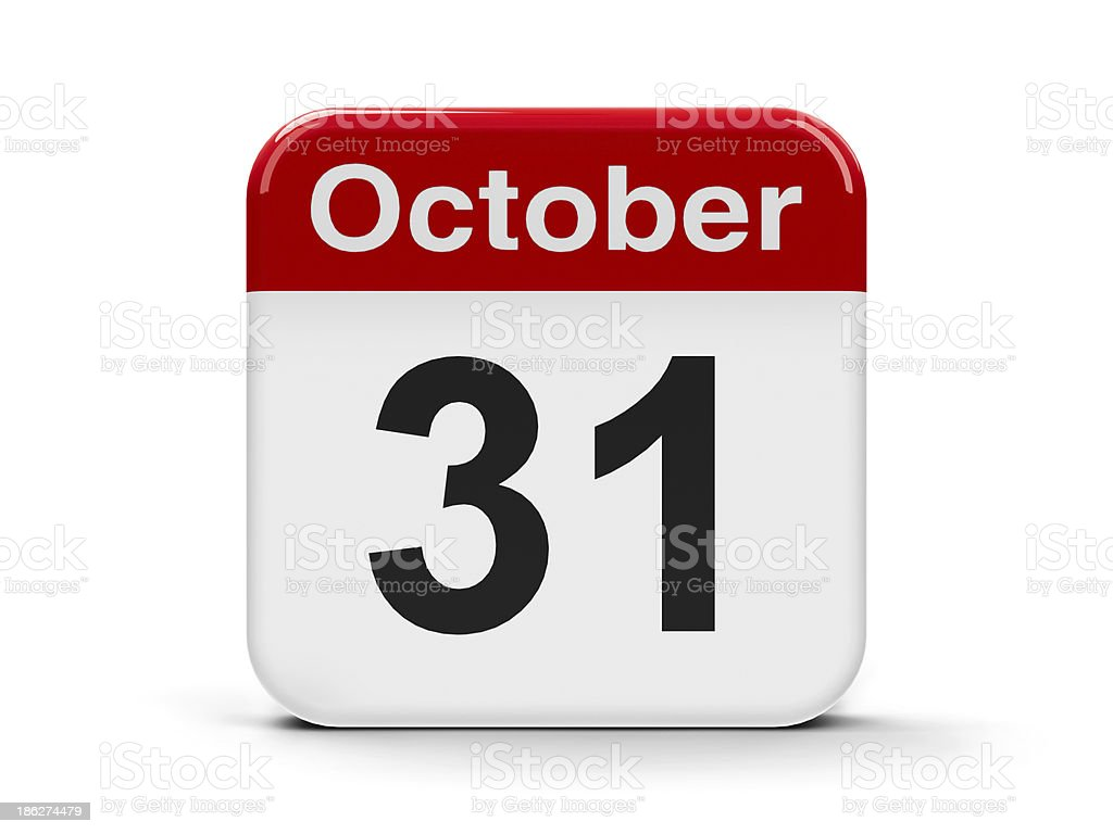 31th October stock photo