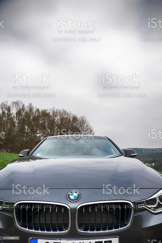 BMW 320d 2013 (E90) royalty-free stock photo