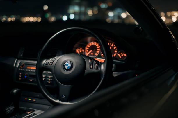 BMW 330Ci Interior (E46) stock photo
