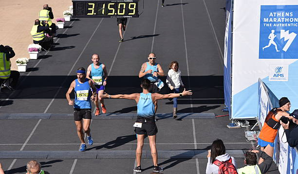 34th Athens Classic Marathon 2016 Moments stock photo